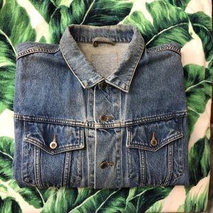 Vintage 90s Denim Jean Jacket Rare Size XL Men's